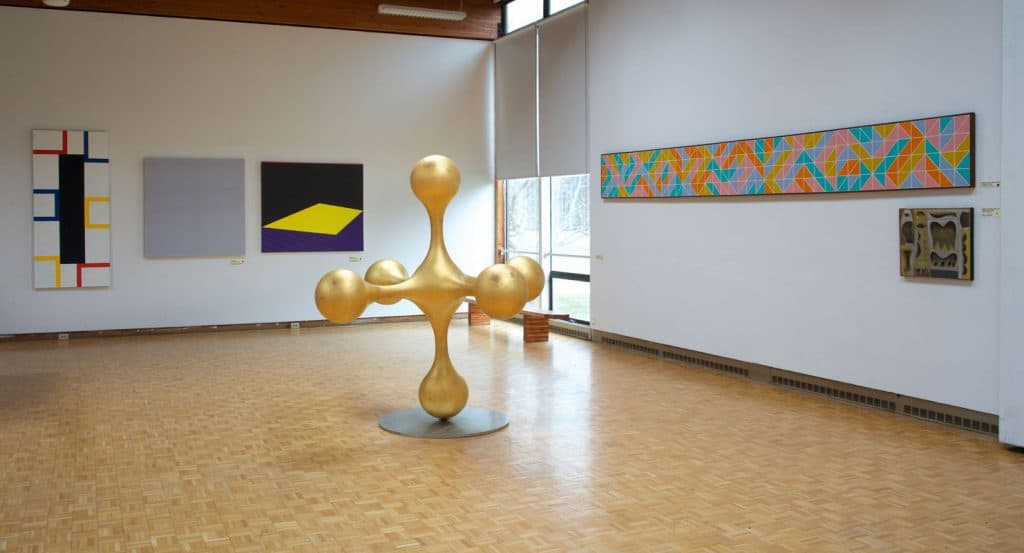An installation view of Usdan Gallery with work from the
